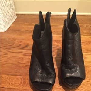 Kenneth Cole open toe wedge booties